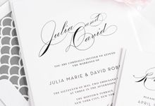 Vintage Glam Wedding Invitations by Shine Wedding Invitations