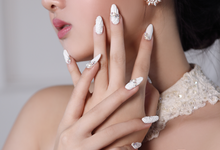 Very White Wedding Nail by Vinna Christina Wedding Nails