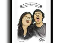 Prewedding Ilustrasi by Goni Project