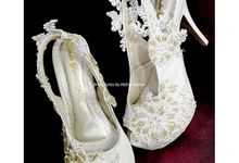 With Initials by Nefrin Fadlan for brideseries wedding shoes