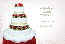 Wedding Cake 3 tiers by Libra Cake