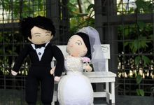 Customised or Personalised  Wedding Sock Dolls by Handcrafted by Lennis Khoo