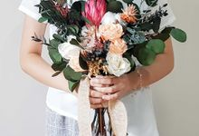 Preserved Flowers Wedding Bouquet - Preserved Roses Large by Lavish Flower
