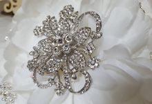 Hand Made Custom Designed Bejeweled Bridal Bouquet by Rita's Bejeweled Bridal Bouquets