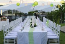 Secret Garden Long Table Set up by Le Meridien Bali Jimbaran