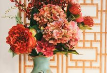 Chinese Oriental Wedding Decoration - Joshua & Li Theng by Glitz&Glam Studiobooth
