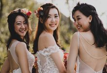 Three Beautiful Brides by Jennis Wong Makeup