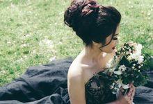 Ivory Vintage Bouquet by Petit Petal