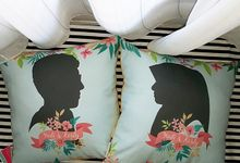 Custom Cushion for Wedding Gift by Kawung Living