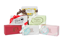 Customized Packaging 2 pc Wedding Favors by Frederic Blondeel Chocolatier