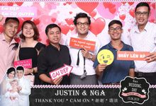 Nga & Justin Wedding by Printaphy Photobooth Ho Chi Minh Sai Gon Vietnam by Printaphy Photobooth Vietnam