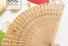 Hand Folded Bamboo Fan by Soulmade Design