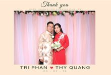 Tri & Thuy Wedding by Printaphy Photobooth Vietnam by Printaphy Photobooth Vietnam