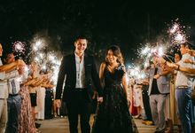 Dusty Blue Elegance, Our Bali Destination Wedding (Volcano Included) by Niccole Chan