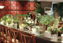 Greenery Table Setting at Patio Plataran by Fiori.Co
