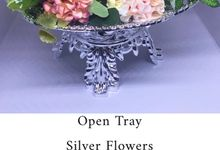 Open Tray - Silver Flower by Theroyalcreative