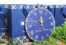 Souvenir Eksklusif Wood Wallclock Agung & Nurul by Anaria Souvenir Pernikahan