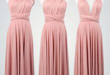 Convertible Infinity Dress by upper east bridesmaid