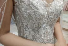 Dusty Blue Wedding Gown by iLook ( Makeup & Couture )
