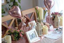 Pink Pearl Colour Theme by Yulika Florist & Decor