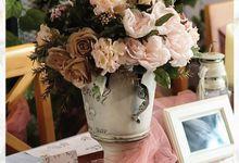 Pink Rustic Colour Theme by Yulika Florist & Decor
