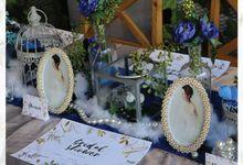 Navy Blue Colour Theme by Yulika Florist & Decor