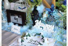 Fairy Blue Colour Theme by Yulika Florist & Decor