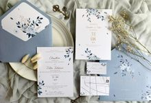 Dusty Blue Garden by Trouvaille Invitation