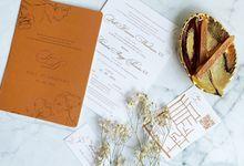 Romantic Terracota by Trouvaille Invitation