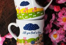 FLASH SALE MUG LOVE by Mug-App Wedding Souvenir