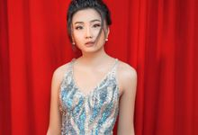 Full Sequin Grey Feather Dress by iLook ( Makeup & Couture )