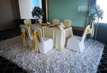 White Akad Nikah Decoration by Aston Priority Simatupang