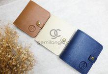 b-wallet packaging mika ribbon by Gemilang Craft