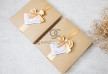 premium boxy pouch packaging craftbox ribbon for Nadia & ridho by Gemilang Craft