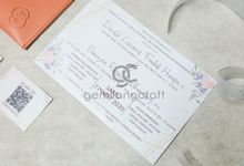 premium envelope invitation for donald & selyn by Gemilang Craft