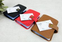premium card pouch for Dini & Ai by Gemilang Craft
