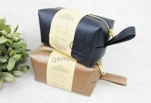 premium boxy pouch packaging roll paper for Ian & Dayu by Gemilang Craft