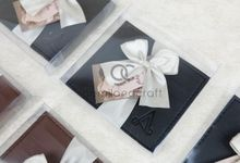 premium card wallet packaging box mika ribbon for ayu & ade by Gemilang Craft