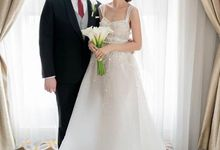 Mr G and Mrs N Wedding Day by Vandelina Brides