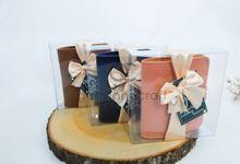 b-wallet packaging mika ribbon for damaris & fauzan by Gemilang Craft