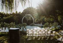 Royal Romantic Wedding Decoration by Bali Wedding Service by Bali Wedding Service
