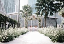 Outdoor Area Of Financial Hall by Financial Hall by IKK Wedding