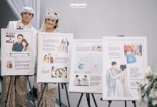 4 Frames - The Wedding of Indera & Bella by Illustation