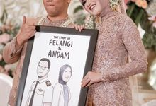 4 Frames - The Wedding of Pelangi & Andam by Illustation