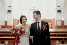 WO SERVICE FOR HOLY MATRIMONY OF CHRIS & LIVIA by Menara Mandiri by IKK Wedding (ex. Plaza Bapindo)