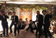 Music team at Bernard & Tresy wedding reception by Wijaya Music Entertainment