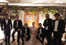 Music team at Bernard & Tresy wedding reception by Wijaya Music Entertainment