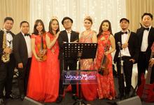 Music team at Luky & Lenny wedding reception by Wijaya Music Entertainment