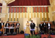 Music team for Afira & Rully wedding reception by Wijaya Music Entertainment