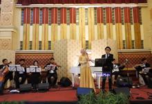 Music team for Afira & Rully wedding reception by Wijaya Music Entertainment